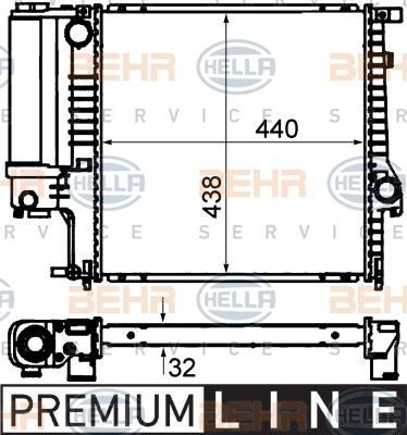 Radiateur, refroidissement du moteur E36