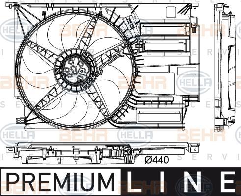 Ventilateur, refroidissement du moteur F48