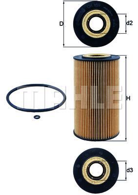Filtre à huile Cartouche filtrante M628