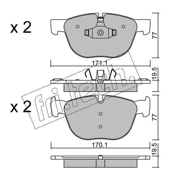 Jeu de 4 plaquettes de frein avant BMW X5(F15) /X6(F16)