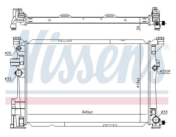 Radiateur, refroidissement du moteur Mercedes CLA 117