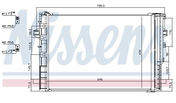 Condenseur Mercedes CLA 117