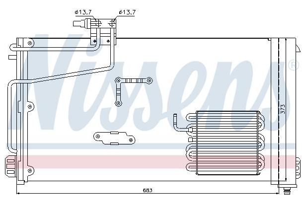 Condenseur Mercedes W203