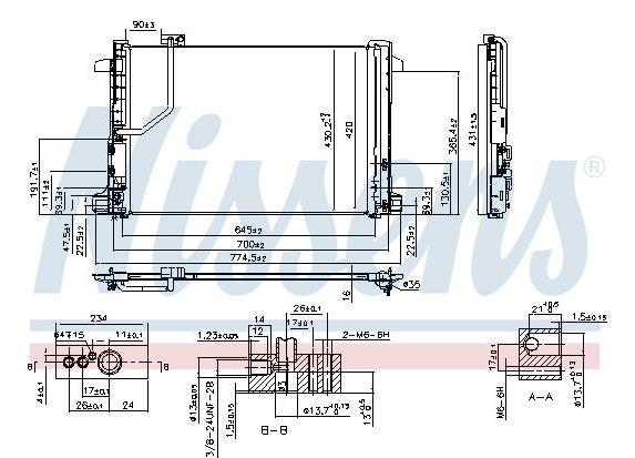 Condenseur Mercedes W204/W212