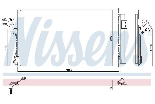 Condenseur Mercedes Vito W639