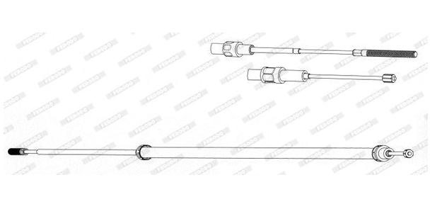 Cable de frein à main (gauche) BMW E39