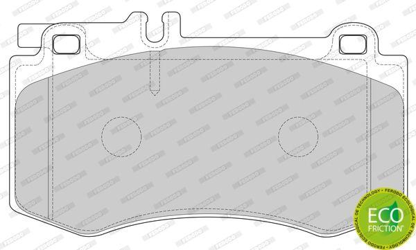 Kit de plaquettes de frein avant W212 Ferodo (720)