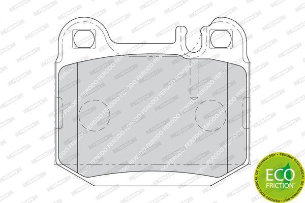 Kit de plaquettes de frein, arrière ML 163