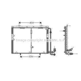 Condenseur, climatisation sans déshydrateur W202 (0570)