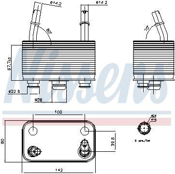 Radiateur d'huile de boîte automatique X5 E53 (112)