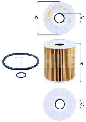 Filtre à huile Cartouche filtrante E39 M57