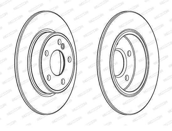 Jeu de 2 disques de frein arrière Mercedes W176/C117