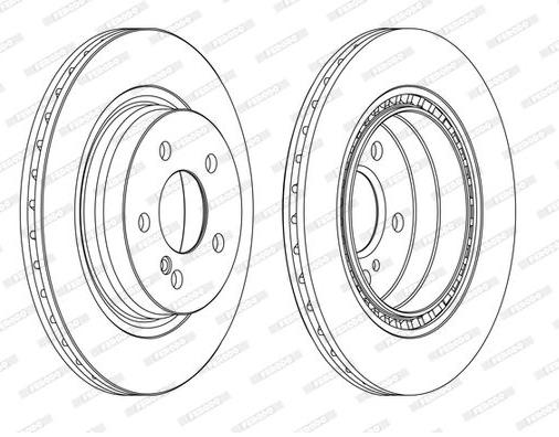 Jeu de 2 disques de frein arrière Mercedes W204/A207
